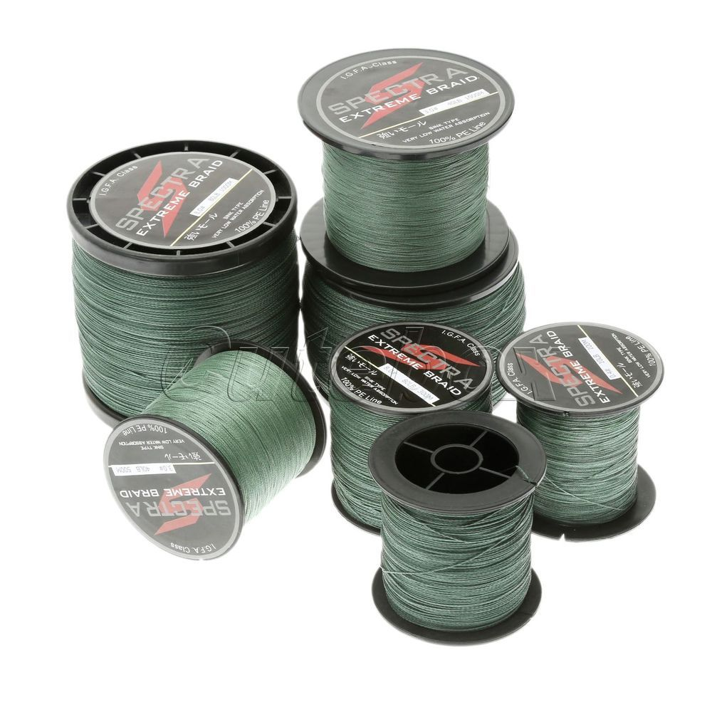 New Moss Green 100M-1000M Spectra Super Strong Dyneema Braided Sea Fishing Line