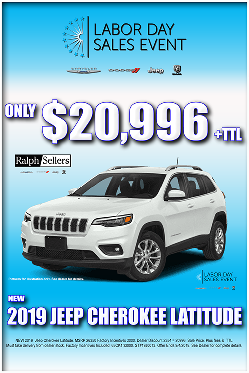 Labor Day Sales Event At Ralph Sellers Chrysler Dodge Jeep Ram On