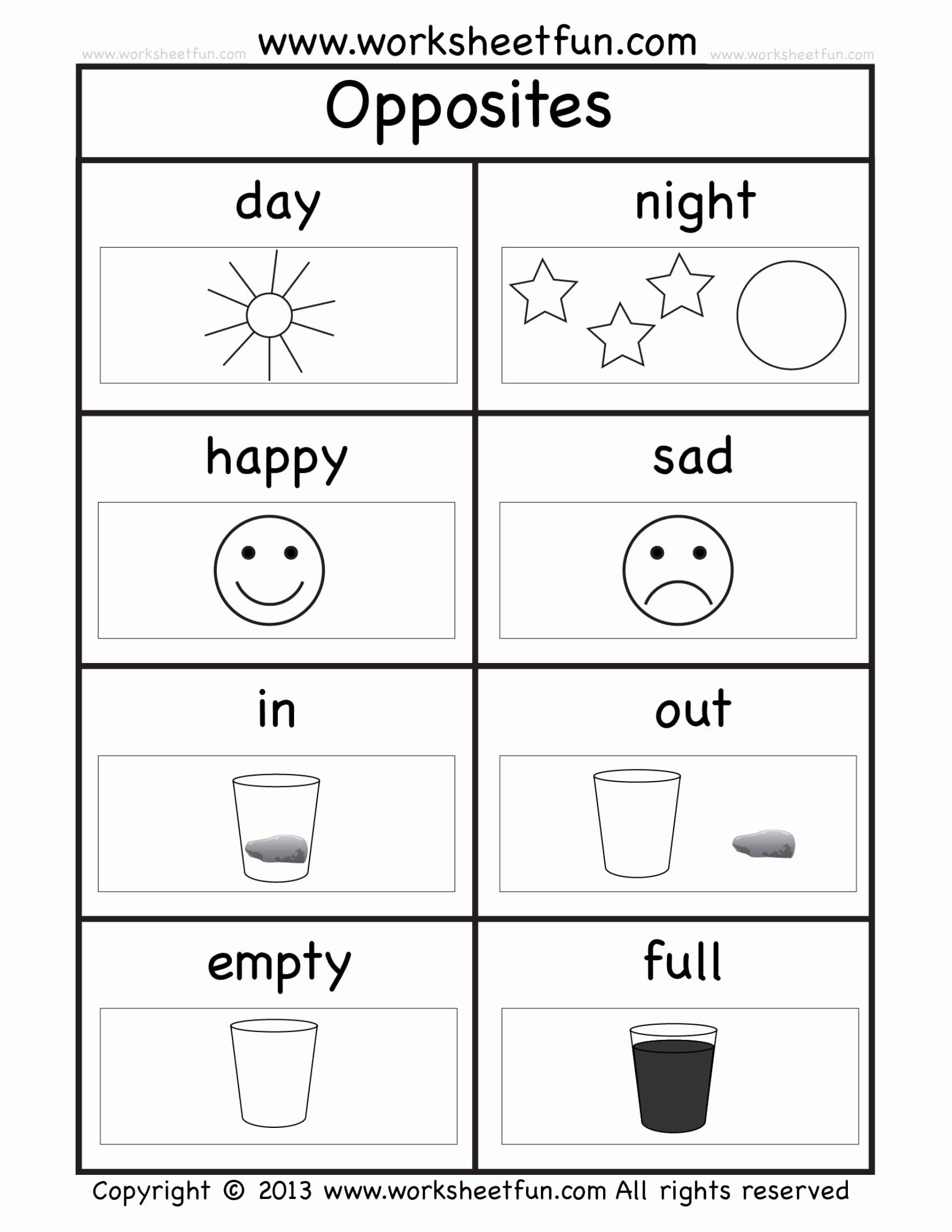 Preschool Worksheets In