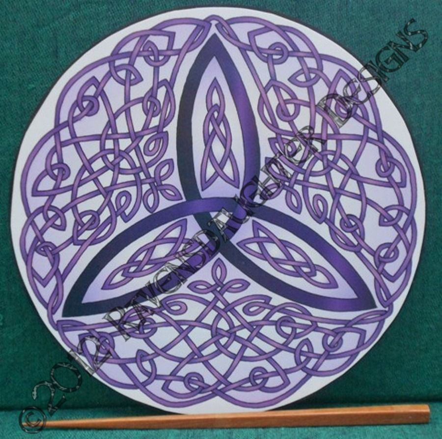 celtic art therapy | Celtic Trinity Knot Art Therapy Plate ...