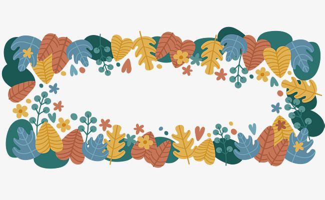 Titulo caja de color hoja de otoño, Vector PNG, Hojas De Color ...