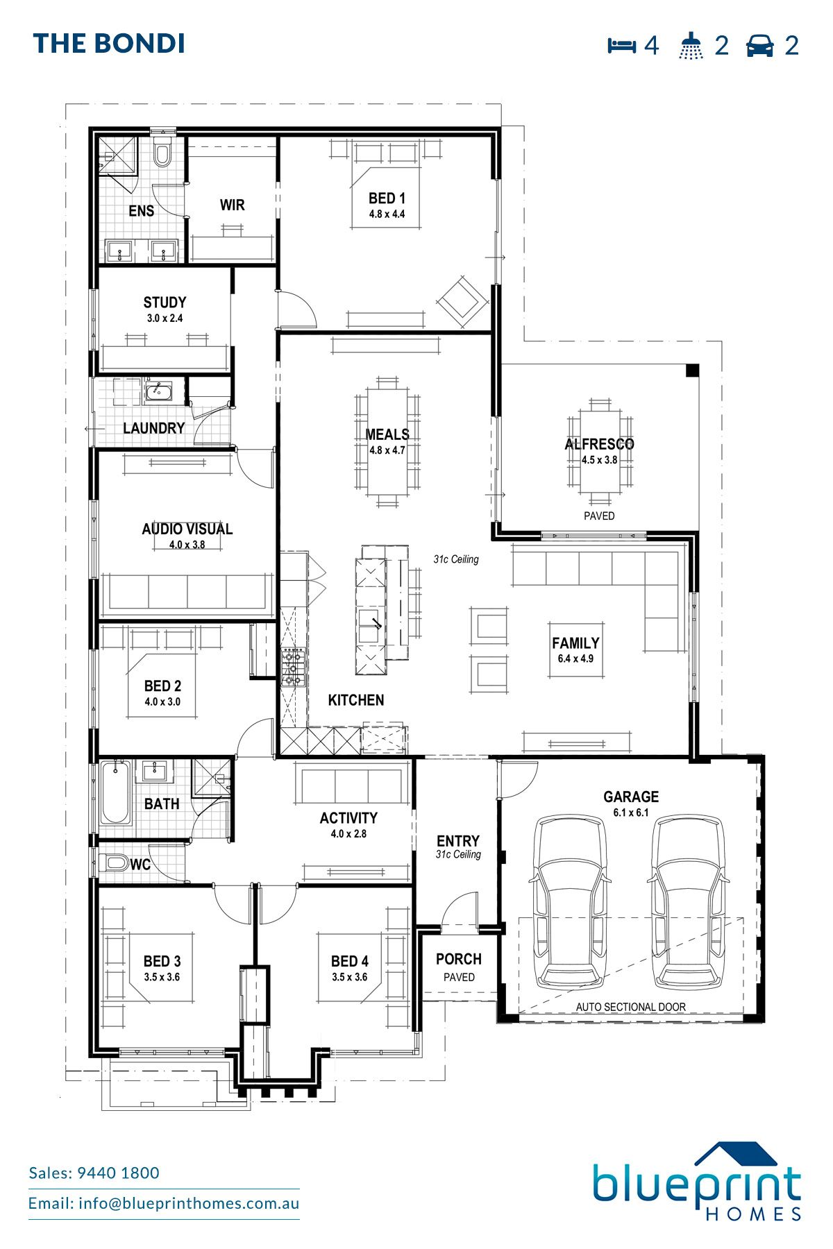The bondi houses pinterest house small house plans and the bondi blueprint homes malvernweather Image collections