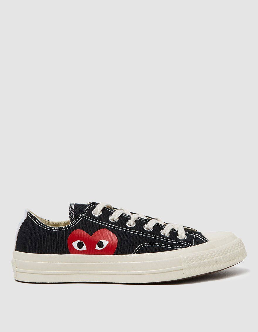 Play Converse Low in Black Shoes, Size
