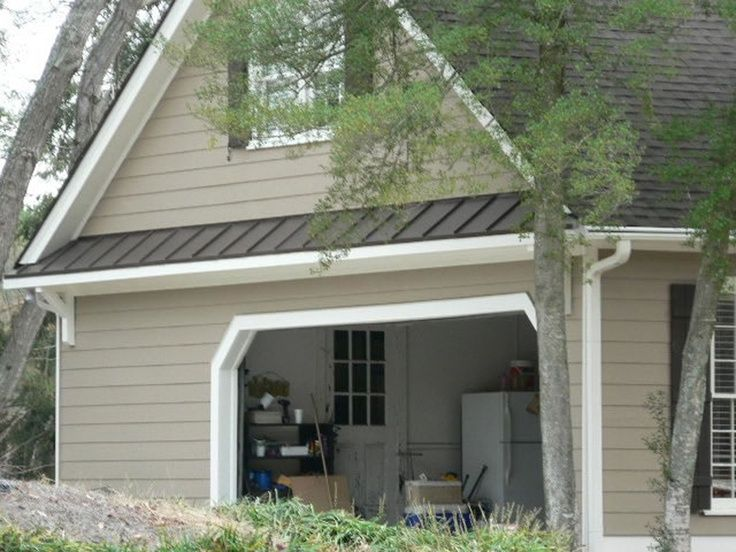 shallow awning over garage - Google Search | Garage ...