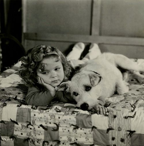 Shirley Temple and a friend in Merrily Yours c.1933