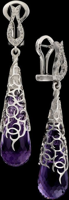 Master Exclusive Amethyst Jewellery - Day & Night Collection - 18К White Gold Amethyst (29.34 ct) & Diamonds