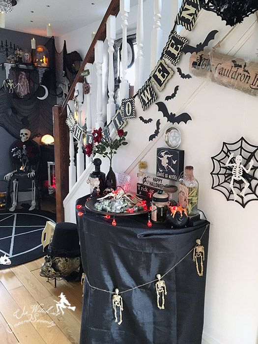 Cool Halloween decor with Trick or Treat sweetie station All - pinterest halloween decor ideas