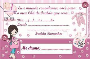 Convites Para Cha De Fraldas Para Editar E Imprimir Convite Cha