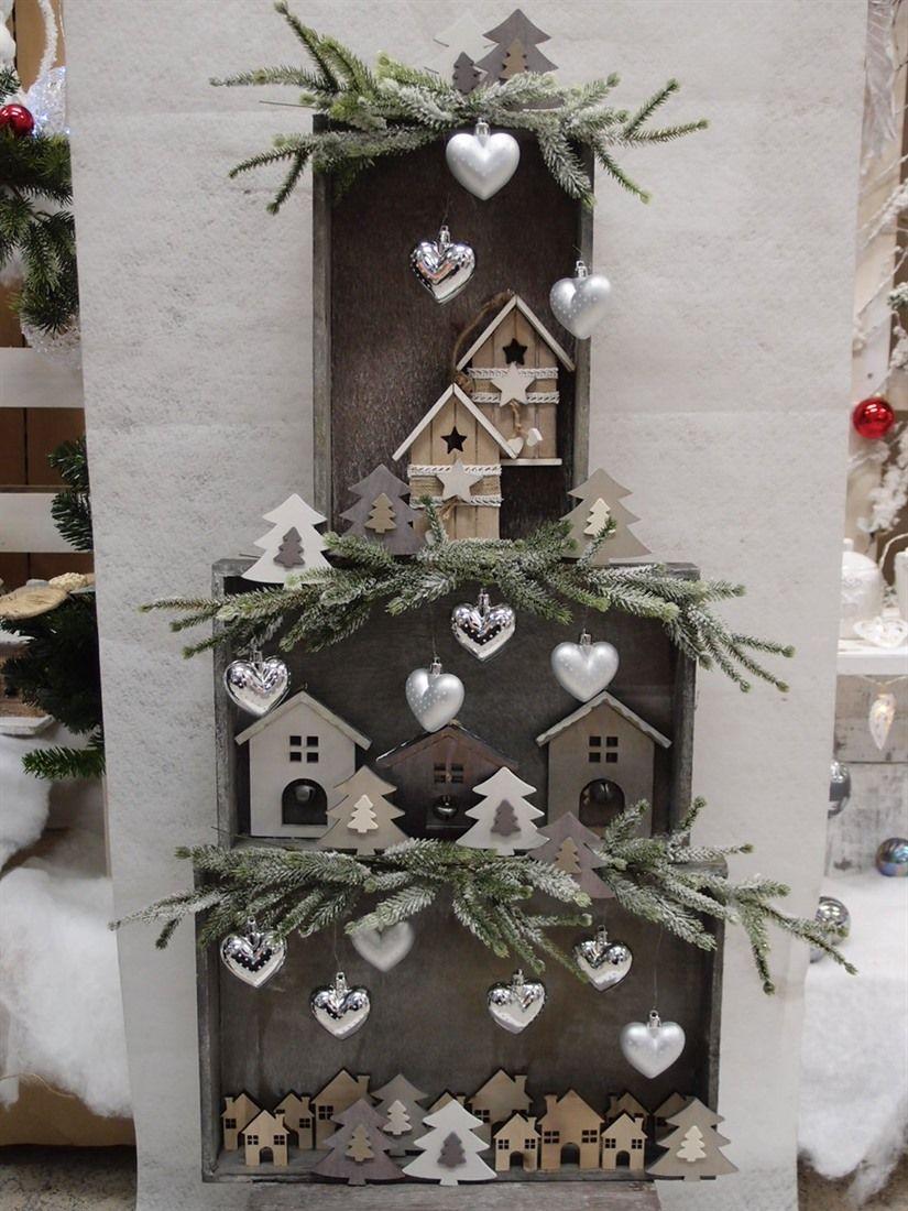 Idee shabby albero di natale addobbi decorazioni for Ornamenti casa