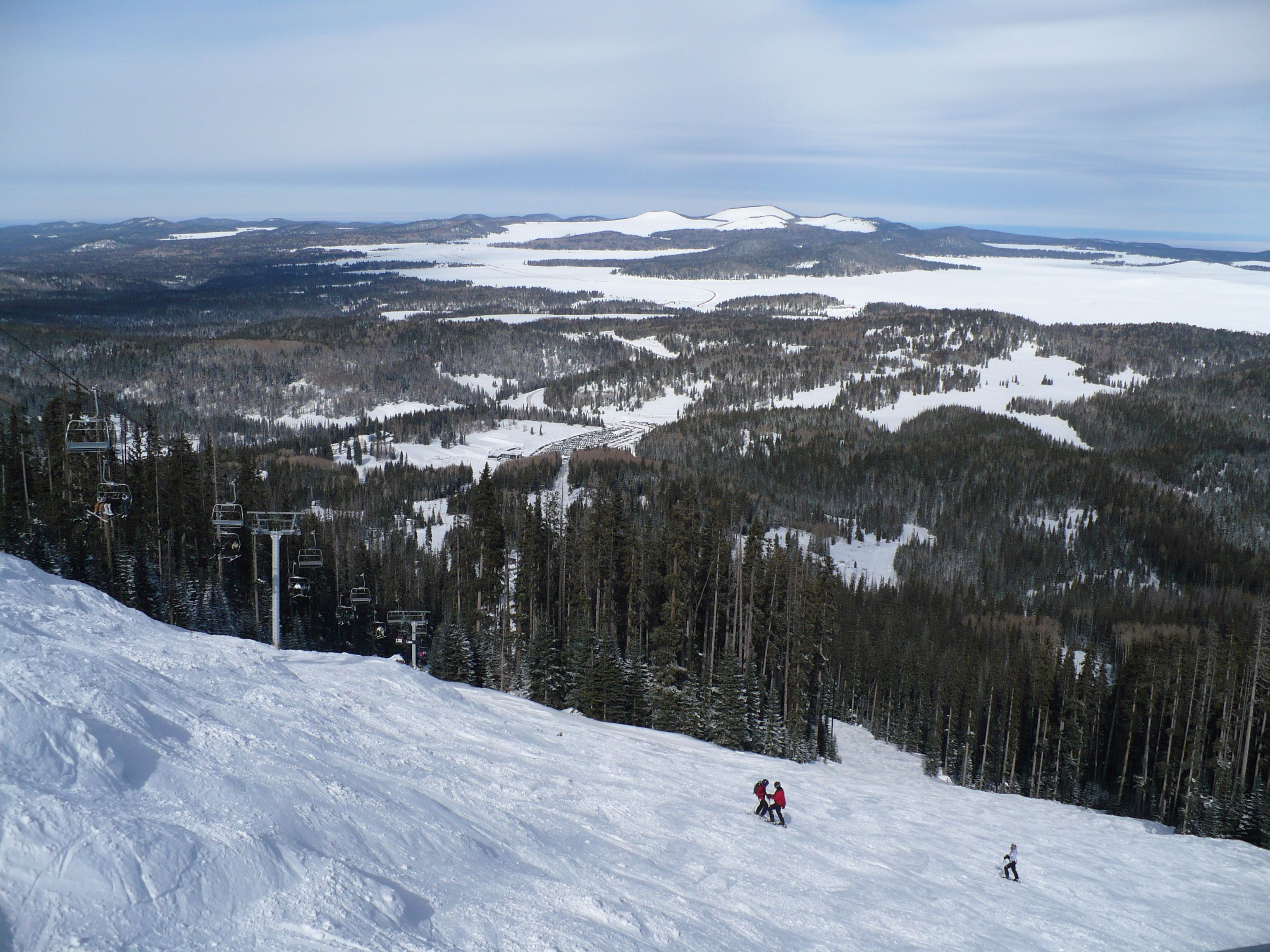 sunrise ski resort, in white mountians on apache indian reservation
