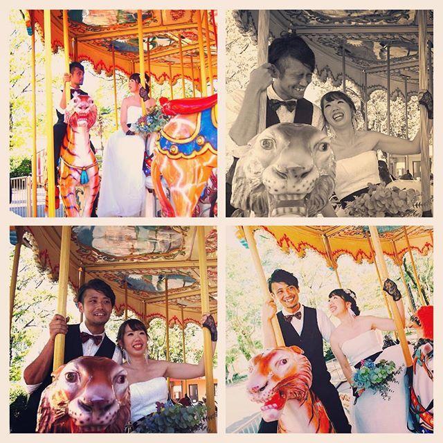 #しーちゃんの前撮り レポ 9月11日に地元熊本で前撮りをしてきました♥︎データくるまで妹が撮った写真を少しずつアップします( ^ω^ )  彼がみたことのない笑顔のメリーゴーランド撮影カメラマンさんの写真が楽しみです❤️ さて、気づけば昨日で結婚式まで2ヶ月となってしまいましたやばいっ❗️todoまとめなきゃーまだまだやること山積みシルバーウィークは朝から晩まであまり休憩もなく働き詰めだったので明日からまた結婚式関係復活させます❗️がんばるぞー みんながんばりましょ❗️ コメントはマイペースに返し中すいません  #プレ花嫁 #ウェディング #前撮り #weddingphotography  #ウェディングフォト  #熊本市動物園 #熊本市動植物園 #熊本 #メリーゴーランド #カルーセル #サーカスウェディング  #circuswedding