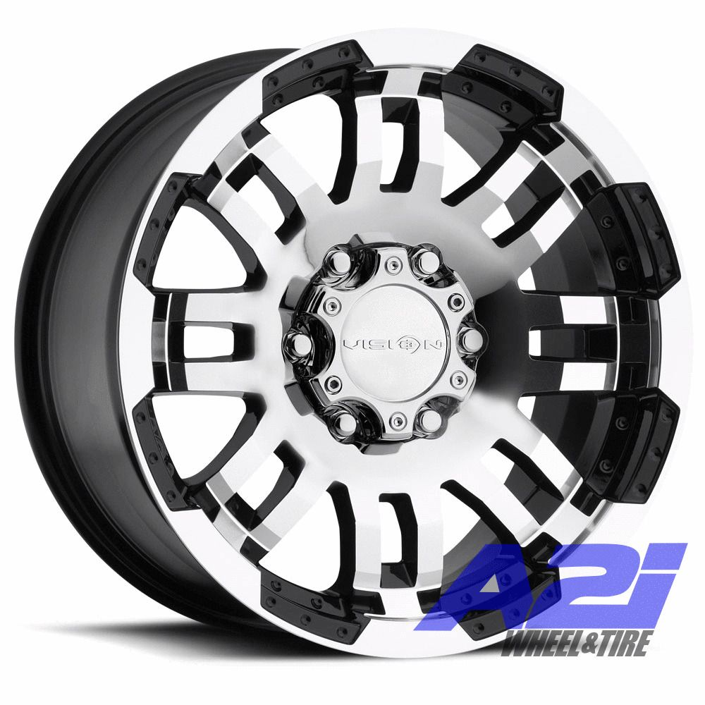 16 Vision 375 Warrior Black Machined Wheel 16x8 6x4 5 12mm Dodge Dakota 6 Lug Visionoffroad In 2020 Black Wheels Wheel Rims Wheels For Sale