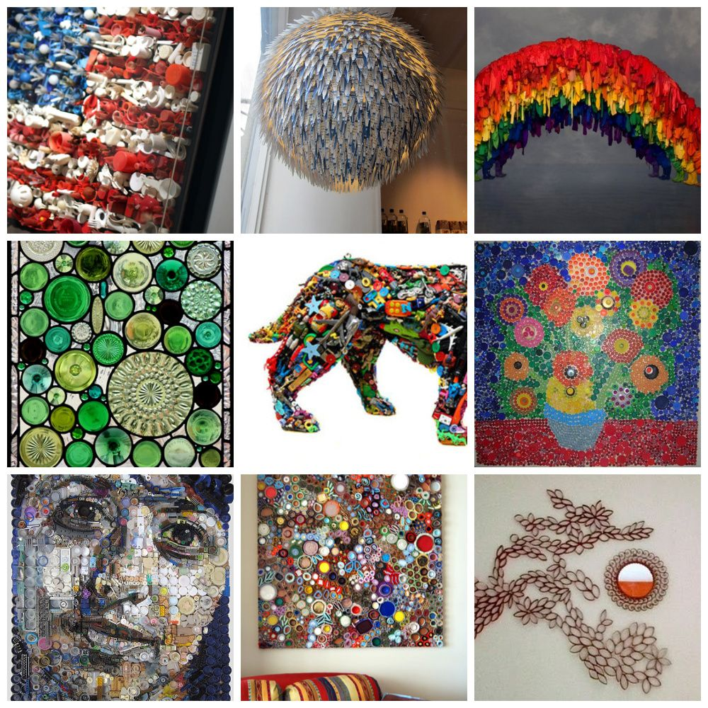 Cool recycled art projects images for Art from waste ideas