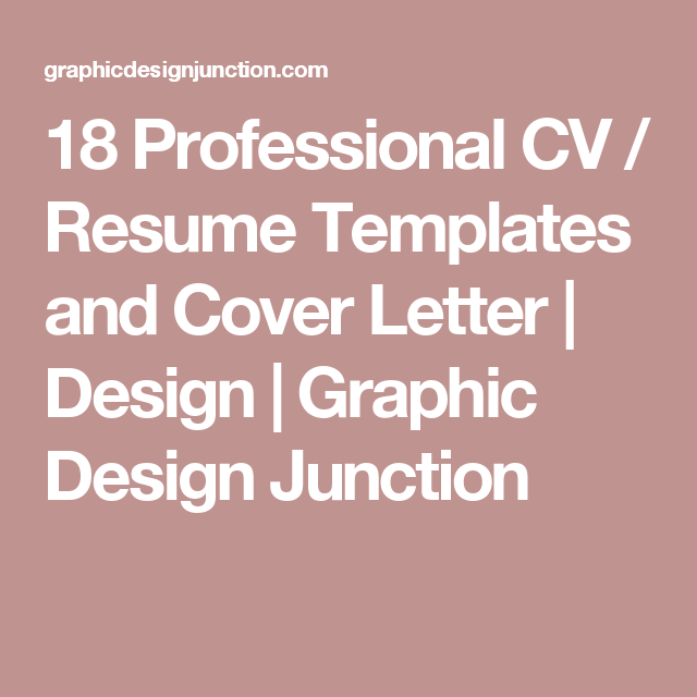 Professional Cv  Resume Templates And Cover Letter  Design