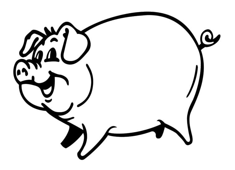 Coloring Pages That Look Like Real Animals : Smiling pig coloring page coloring pages pinterest craft