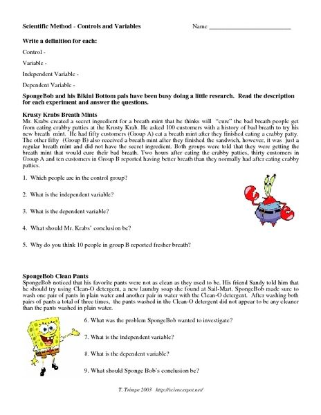 7th grade science worksheets scientific method