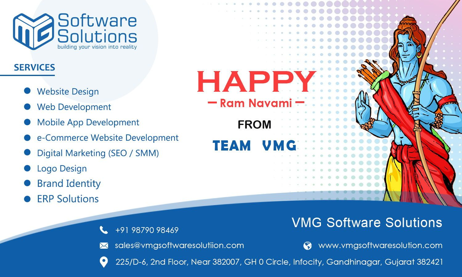 May Lord Ram Shower His Blessings On You And Your Family I Wish Joy Harmony And Prosperity On Ram Navmi For App Development Web Design Company Website Design