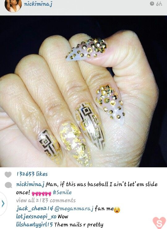 minaj hair styles nicki minaj nails catch my eye nail 8960