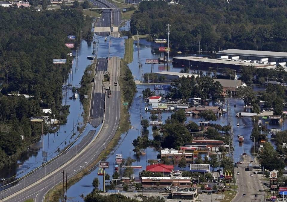 File floodwaters from hurricane matthew cover interstate