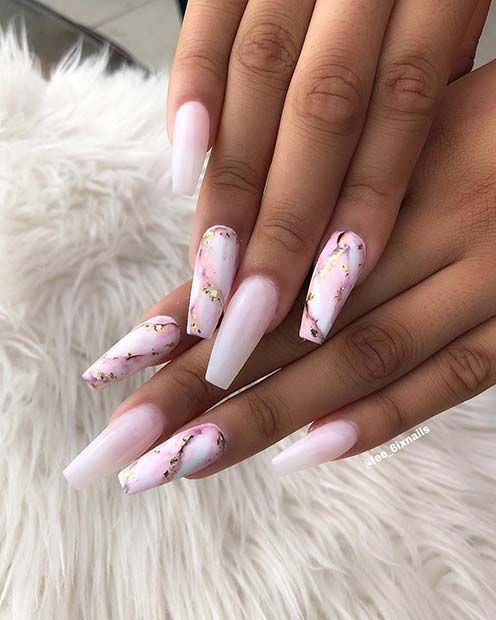 43 Beautiful Nail Art Designs for Coffin Nails | S