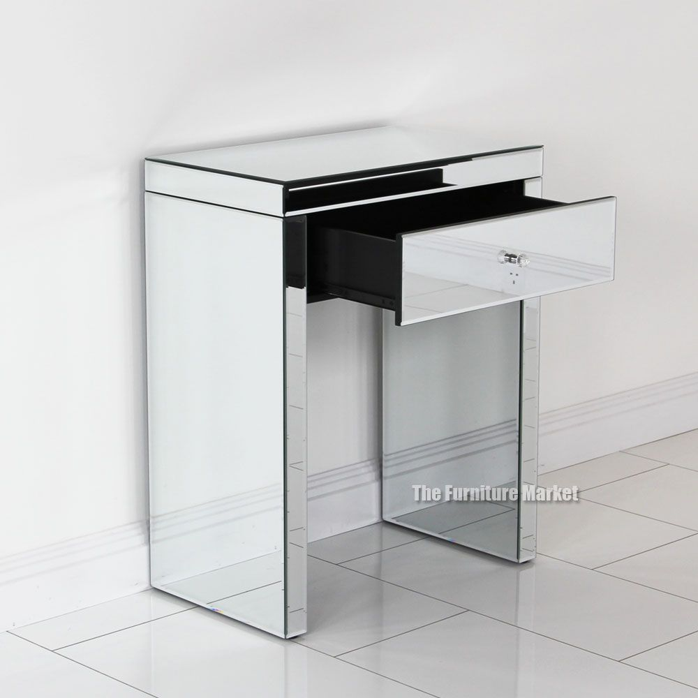 Venetian Compact Mirrored Console Table