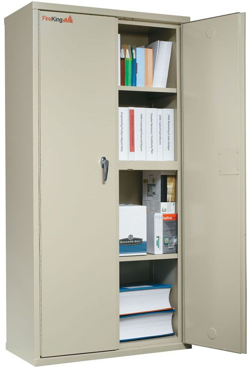 Fireking Storage Cabinet 36 Inchw X Inchd 72 Inchh Ul Listed 350 Degree Parchment Multicolor