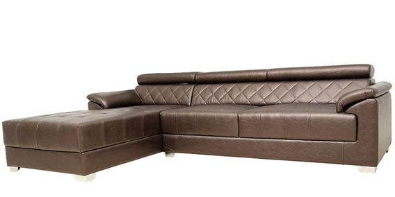 Exotica Lounger Sectional Sofa With Rhs In Designer Leatherette Upholstery By Star India
