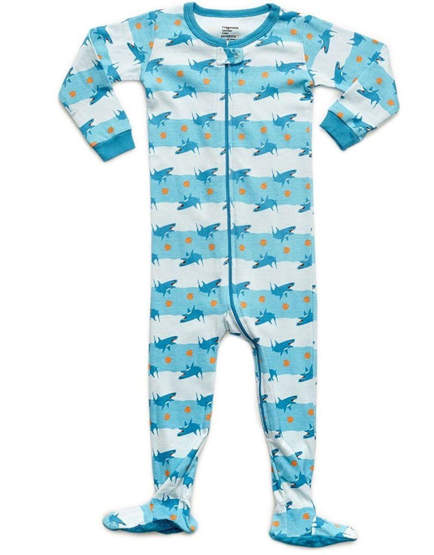 Amazon Com Frogmouth Shark Fish Footed Pajama 6 12 Months Clothing Boys Footed Pajamas Foot Pyjamas Boys Sleepwear