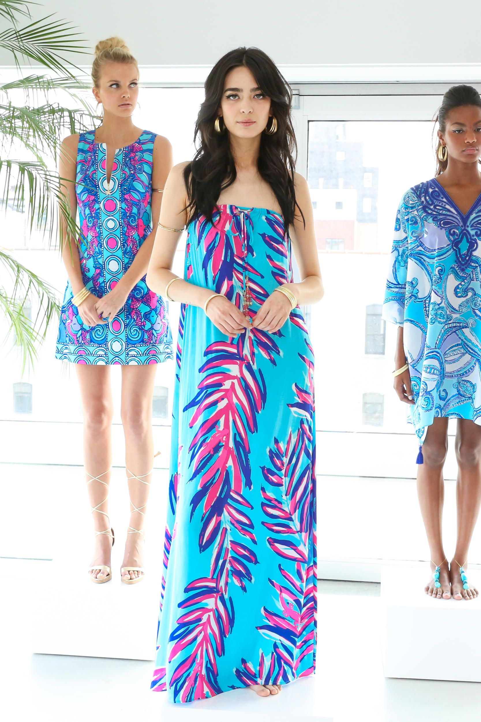 258341ca04ab16 Three looks from Lilly Pulitzer's resort 2016 presentation. Photo: Lilly  Pulitzer