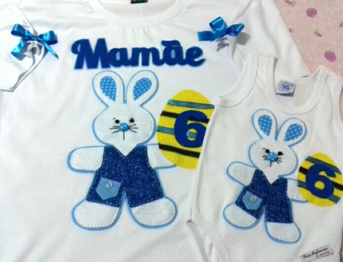 Camisa personalizada, camisas personalizadas, camisa personalizada em feltro,camisa mãe e filho, camisa personalizada mãe e filho, camisa tema páscoa, camisa coelhinho da páscoa, mensário