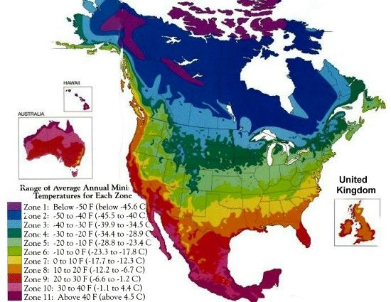 North America Climate Zone map Chicago is in zone 5b  Garden