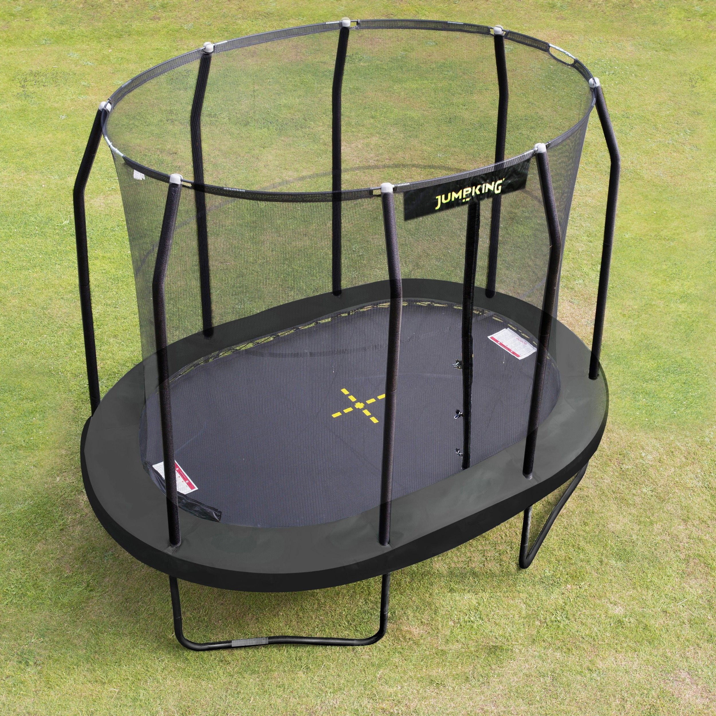 10ft X 7ft Jumpking Ovalpod Trampoline With Enclosure Jpo710g17