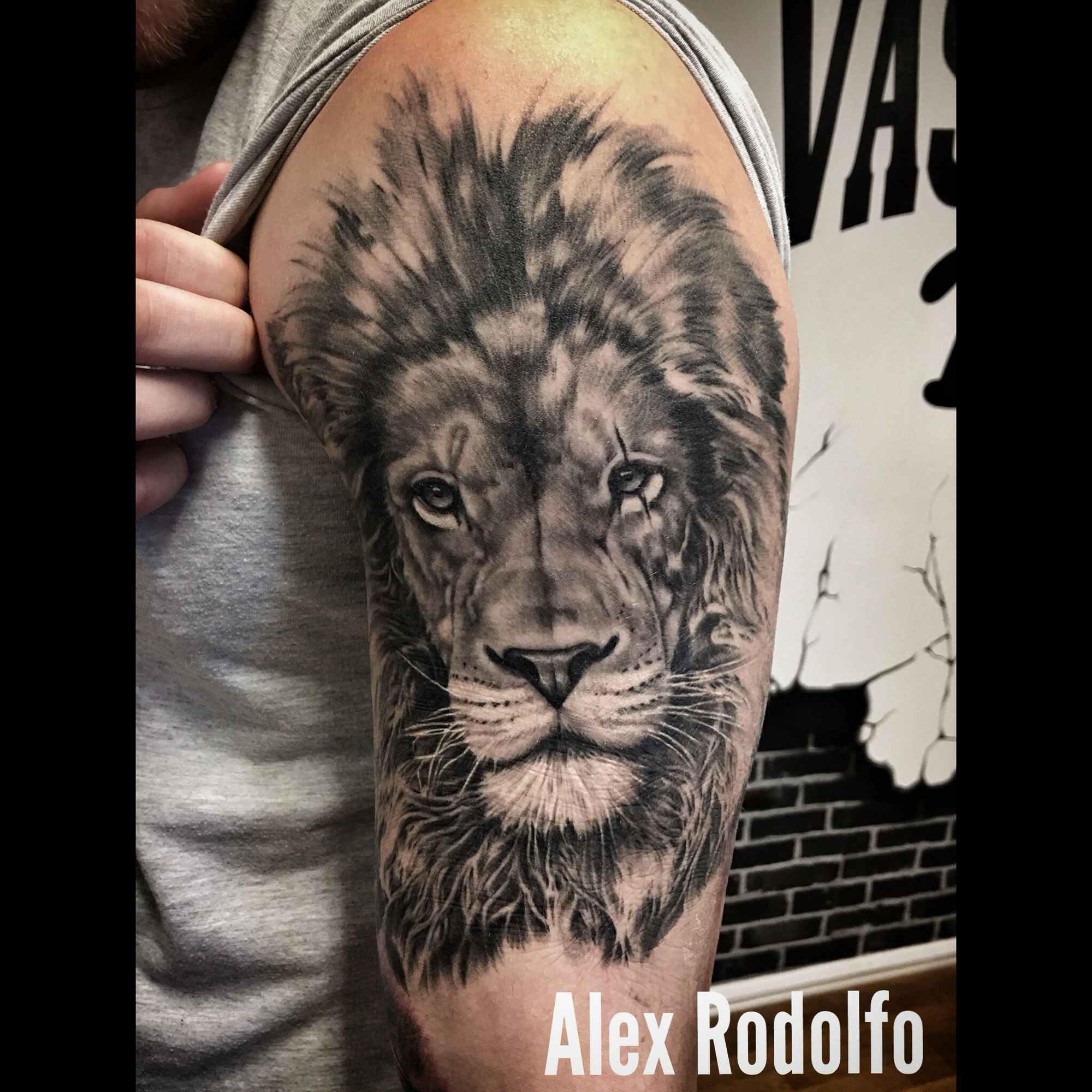 Masculine tattoos designs - Lion Mens Tattoossleeve