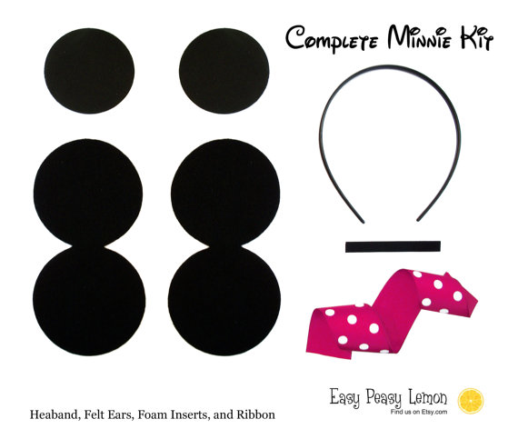 10 Minnie Mouse Ears Headband Craft Kit Do It By Easypeasylemon 20 00