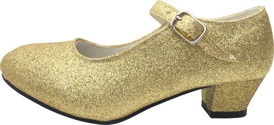 Spaanse Prinsessen Schoenen Goud Glitter Maat 36 Binnenmaat 23 Cm