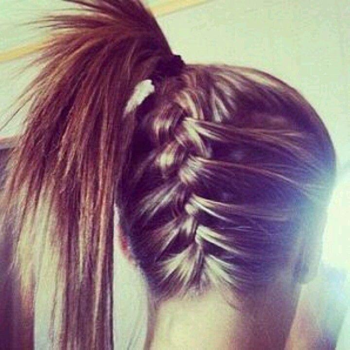 nice braid ponytail