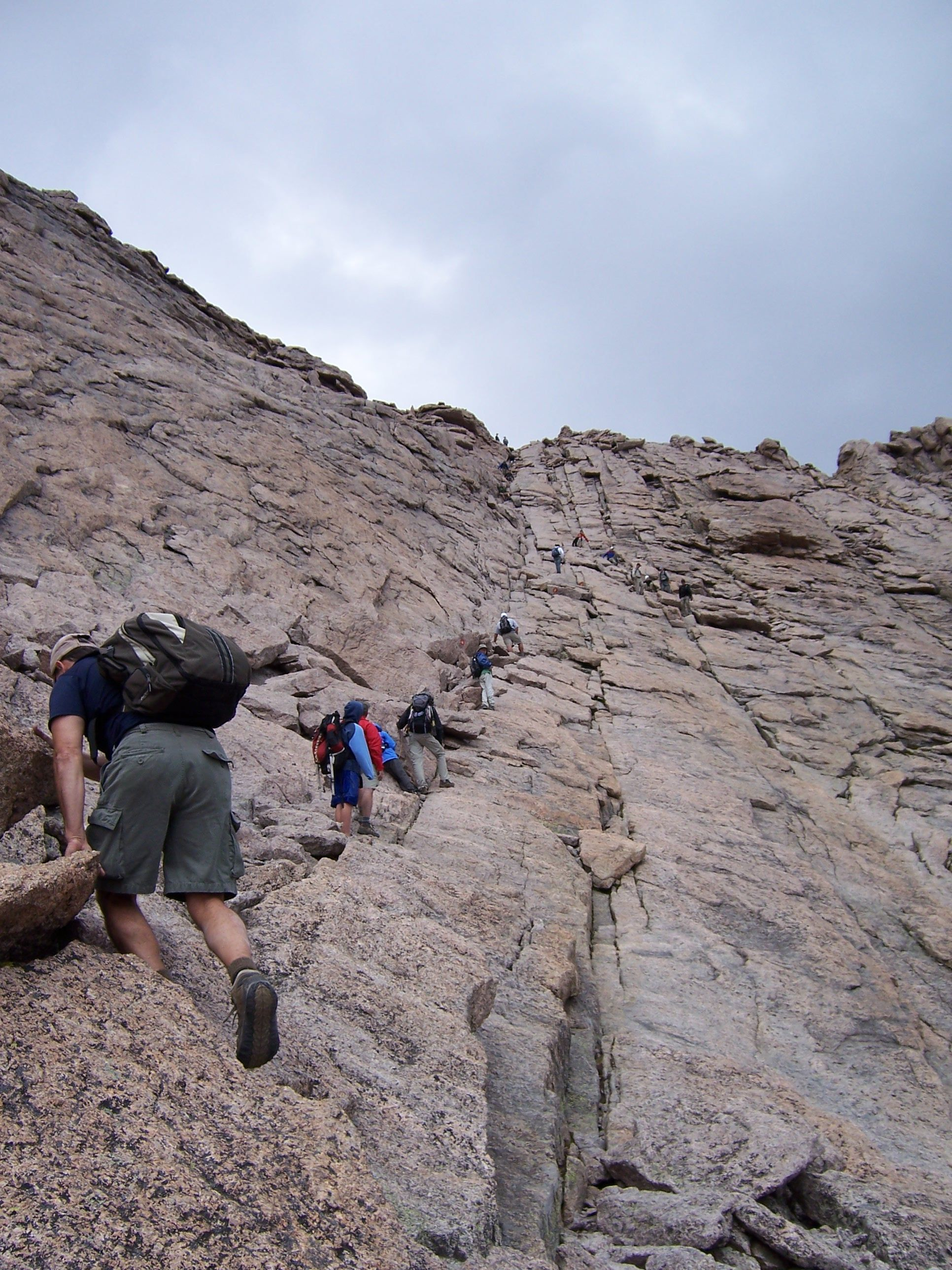 Homestretch On Longs Peak Difficult But Not As Steep As