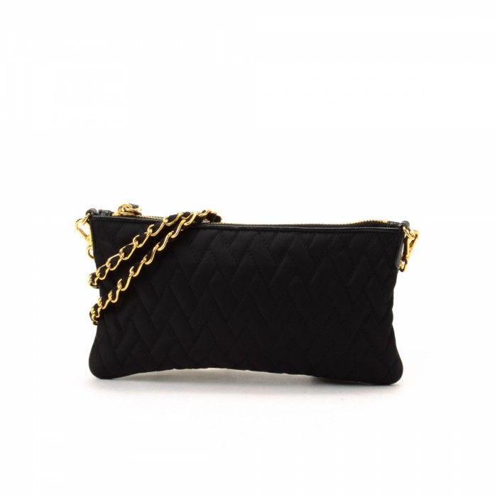 24101dda0bddb2 Prada Tessuto Quilted Chain Pouch / 445$ + Free Shipping / SAVE 50% Off  Retail Price