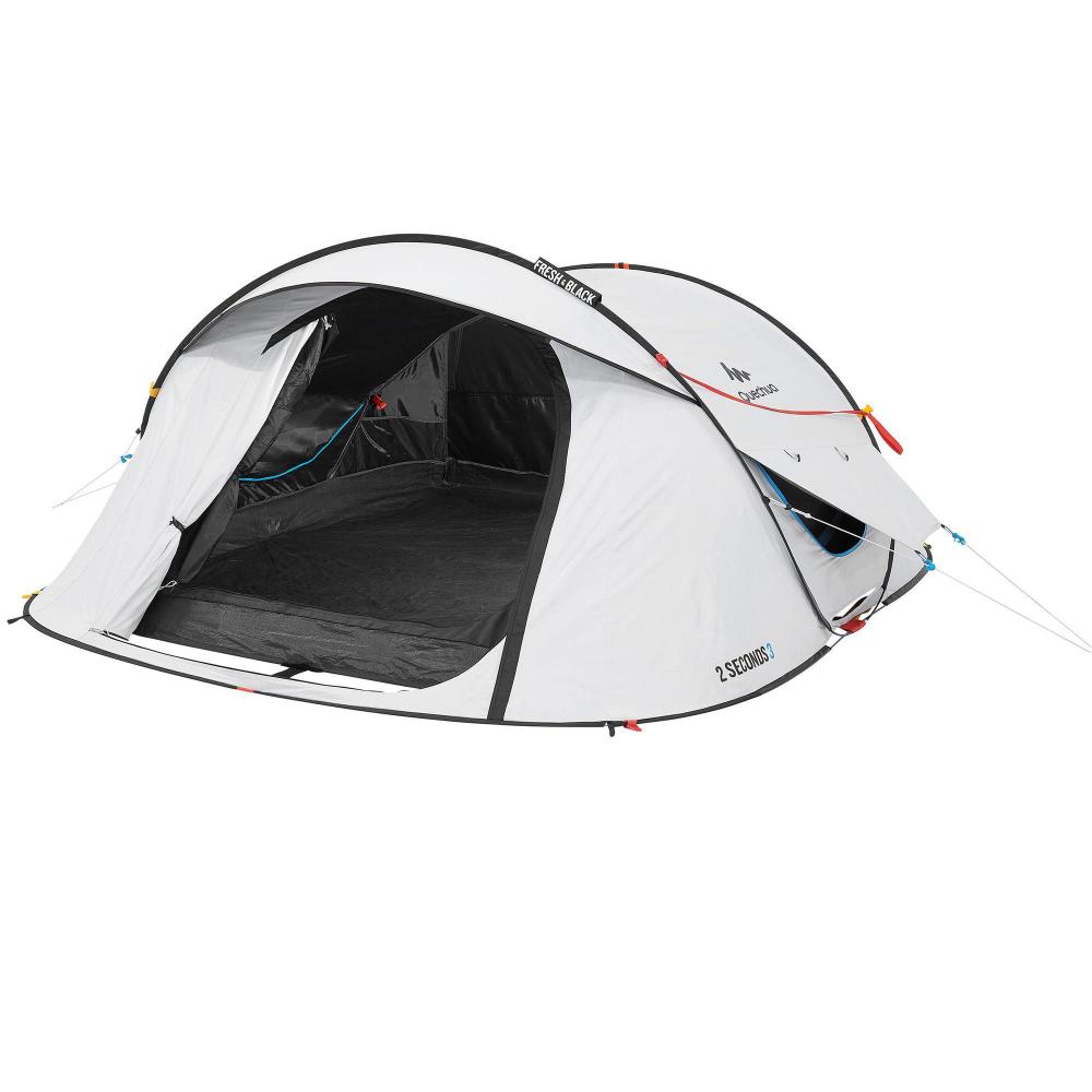 Tente De Camping 2 Seconds Fresh Black 3 Personnes En 2020 Avec Images Pop Up Tente Camping Tente Camping En Tente