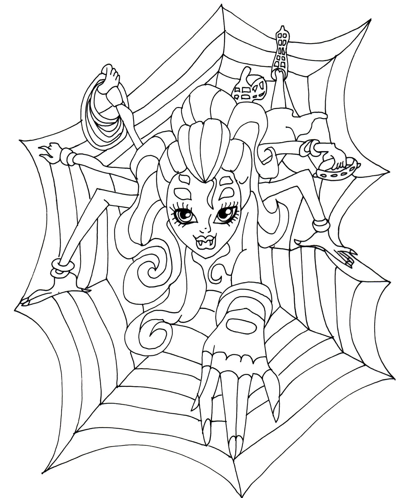 Monster High : Wydowna Spider | coloring pages | Pinterest | Monster ...