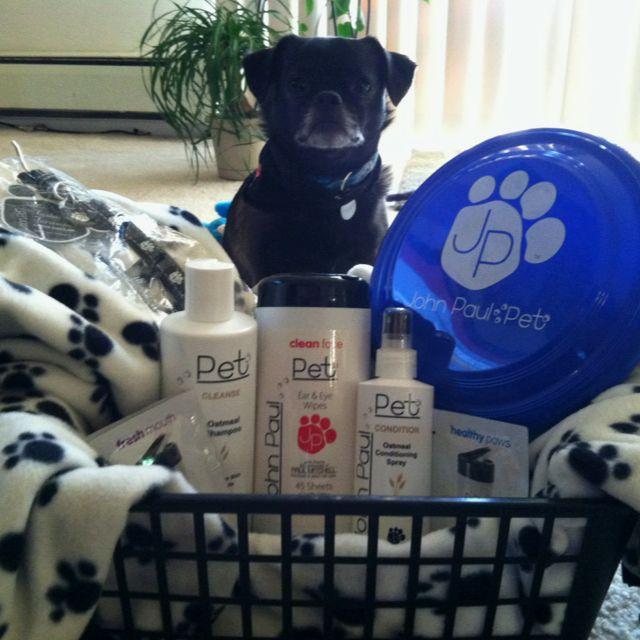 Bridal Shower Gift Basket Climbing On House Halloween: John Paul Pet Raffle Basket (Marley Not Included)