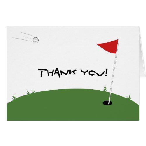 Golf Thank You Card Zazzle Com Sports Wedding Invitations Thank You Cards Custom Thank You Cards