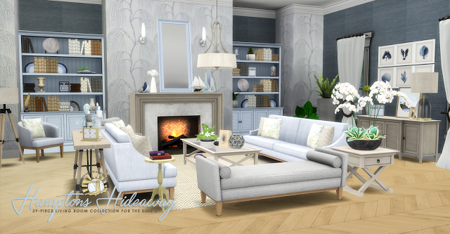 Sims 4 CCu0027s   The Best: Hampton Hideaway Living Room Set By Peacemaker Ic