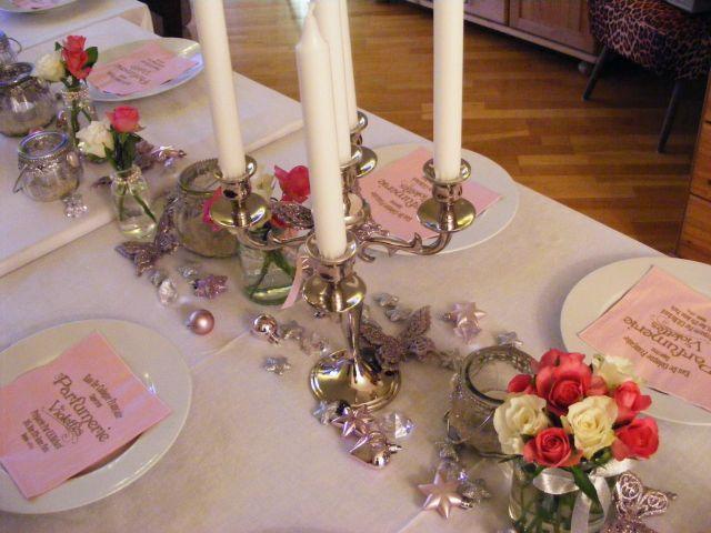 Ankerwerfer Hochzeit Deko Rosen Rosa Silber Winter