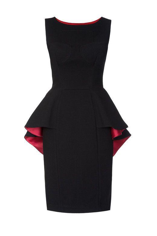 Flounced Peplum Midi Dress | SALE | RED ISABEL | isabel garcia