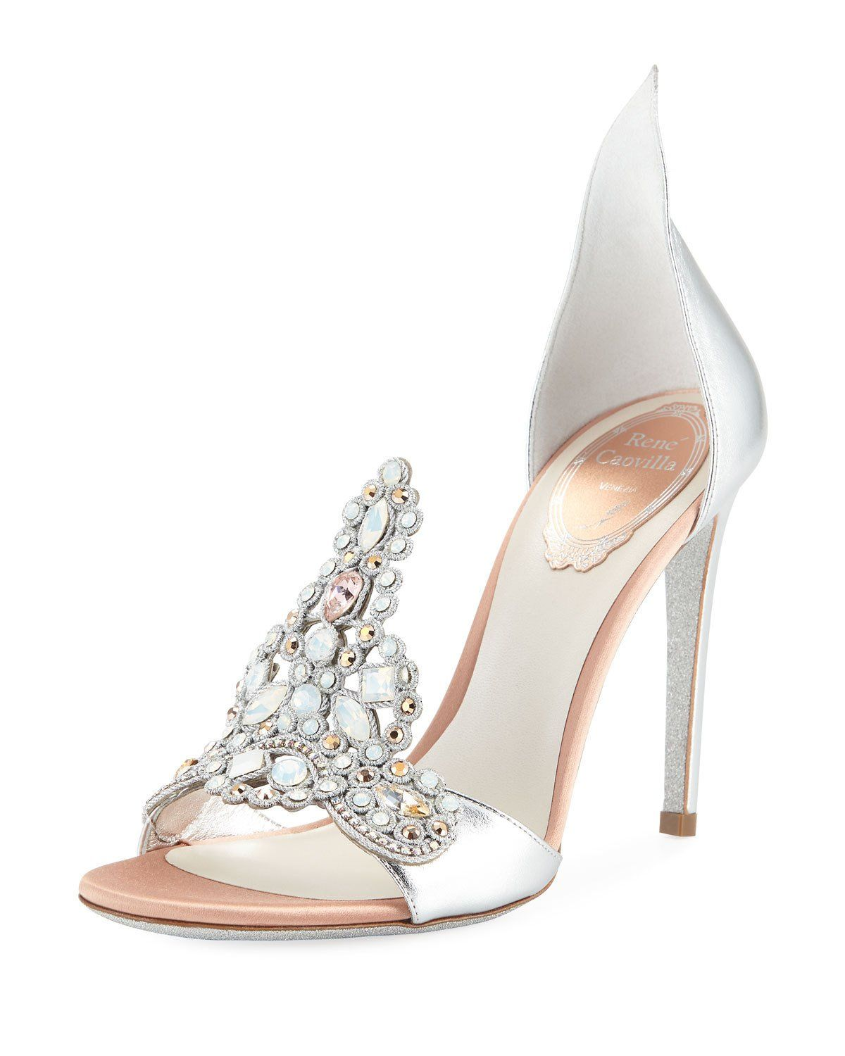 722308086efd4  1185 Embroidered Crystal Metallic Pumps.  1185 Embroidered Crystal  Metallic Pumps Designer Shoes Heels