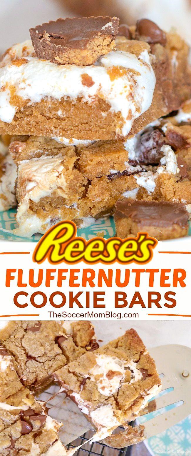 Reese's Fluffernutter Bars #desserts