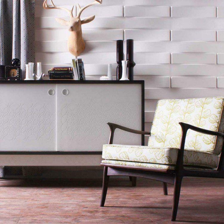 Wandgestaltung für das Wohnzimmer im retro Look | Walls | Pinterest ...