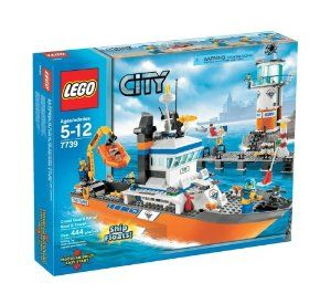 Lego 7739 City Coast Guard Patrol Boat And Tower By Lego 182 45 The Patrol Boat Really Floats And Measures 17 43 Lego Coast Guard Lego City Lego City Sets
