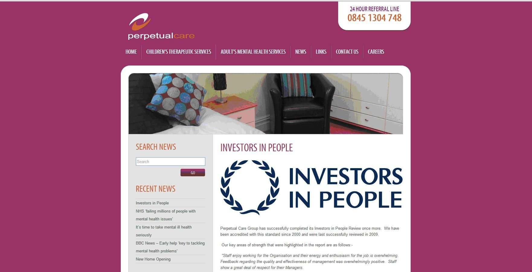 Perpetual Care Group Investors in People Recent news